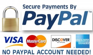 Pay With PayPal or Major Credit Card